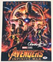 "Chadwick Boseman, Chris Hemsworth & Sebastian Stan Signed ""Avengers: Infinity War"" 11x14 Photo (PSA LOA) at PristineAuction.com"