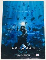 """Aquaman"" 12x18 Photo Signed by (4) with Jason Momoa, James Wan, Patrick Wilson & Yahya Abdul-Mateen II (PSA LOA)"