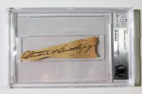 Abraham Lincoln Signed Cut (Beckett Encapsulated)