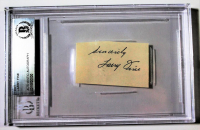 """Larry Fine Signed Cut Inscribed """"Sincerely"""" (Beckett Encapsulated)"""