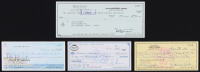Lot of (4) Signed Personal Bank Checks with Joe Walsh, Eddie Van Halen, Bernie Taupin & Linda Ronstadt (JSA COA & JSA ALOA)