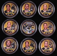 Set of (9) Steelers World Champions 24K Gold Plated & Colorized Pennsylvania Quarters