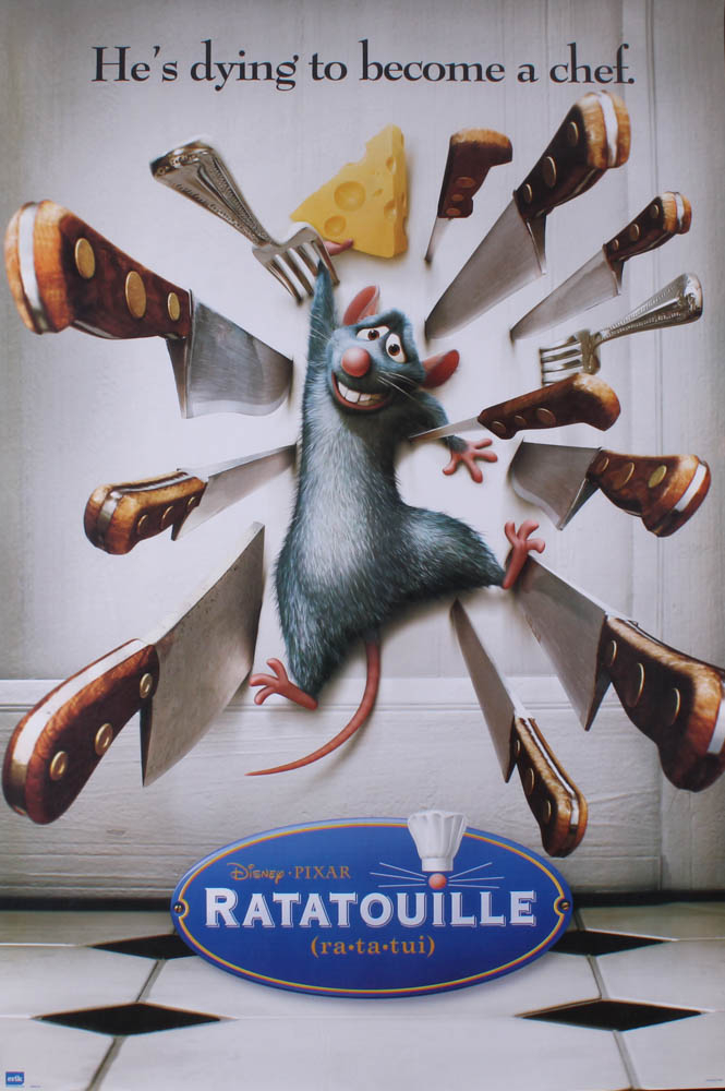 "Pixar ""Ratatouille"" 24x36 Movie Poster at PristineAuction.com"