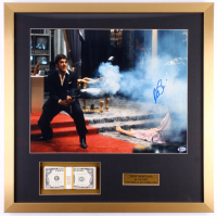 "Al Pacino Signed ""Scarface"" 25x25 Custom Framed Photo Display with Movie Prop Money (Beckett COA)"