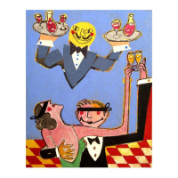 """Wayne Ensrud Signed """"Night on the Town"""" 20x16 Mixed Media Original Artwork at PristineAuction.com"""