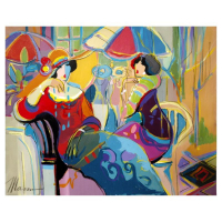 "Isaac Maimon Signed ""Manuela Y Sofi"" 30x24 Original Acrylic Painting at PristineAuction.com"
