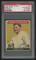 1933 Sport Kings #2 Babe Ruth (PSA Authentic) (Altered)
