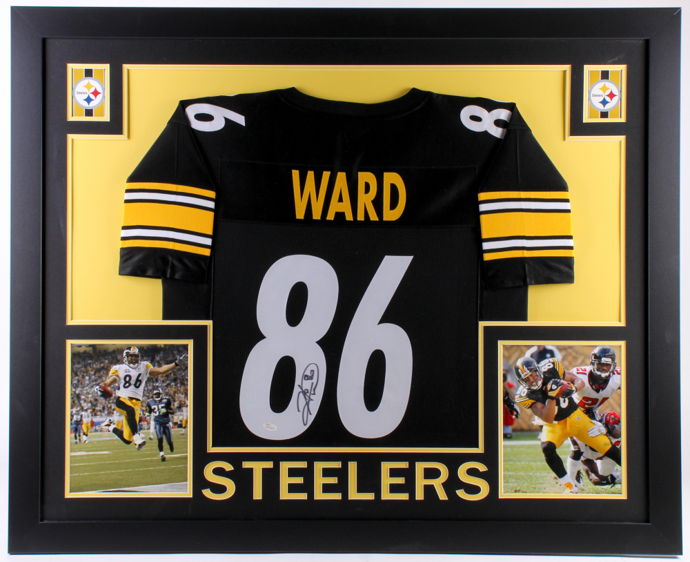 17e55df7d Hines Ward Signed Pittsburgh Steelers 35x43 Custom Framed Jersey (JSA  Hologram) at PristineAuction.