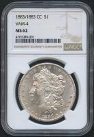 1883/1883 CC $1 Morgan Silver Dollar - VAM-4 (NGC MS 62)