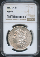 1882-CC $1 Morgan Silver Dollar (NGC MS 63)