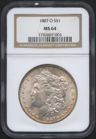 1887-O $1 Morgan Silver Dollar (NGC MS 64) at PristineAuction.com