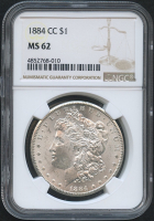 1884-CC $1 Morgan Silver Dollar (NGC MS 62)