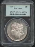 1884-O $1 Morgan Silver Dollar (PCGS MS 63 DMPL)