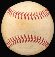 1963 American League Champions New York Yankees Team-Signed (27) OAL Baseball with Mickey Mantle, Whitey Ford, and Joe Pepitone (JSA LOA)