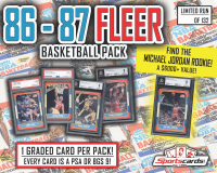 1986 - 87 Fleer Basketball PSA or BGS 9 Mystery Pack! ALL GRADED MINT 9! at PristineAuction.com