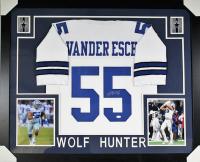 Leighton Vander Esch Signed Cowboys 35x43 Custom Framed Jersey (JSA COA)