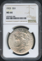1923 $1 Peace Silver Dollar (NGC MS 66)