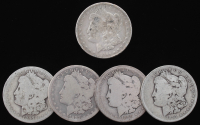 Lot of (5) Morgan Silver Dollars with 1879-S, 1884-S, 1887-, 1891-O, & 1897-O