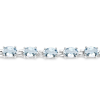 8.80 Carat Genuine Aquamarine .925 Sterling Silver Bracelet at PristineAuction.com