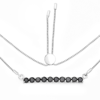 1.47 Carat Genuine Black Diamond .925 Sterling Silver Necklace