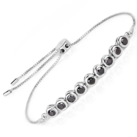 1.58 Carat Genuine Black Diamond .925 Sterling Silver Bracelet at PristineAuction.com