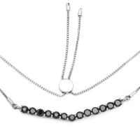 2.28 Carat Genuine Black Diamond .925 Sterling Silver Necklace