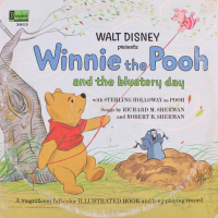 "Vintage 1967 ""Winnie-The-Pooh and The Blustery Day"" Vinyl Record Album and Book"
