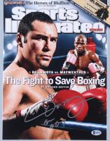 "Oscar De La Hoya Signed Sports Illustrated Cover 11x14 Photo Inscribed ""Golden Boy"" (Beckett COA)"