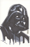 "Tom Hodges - Darth Vader ""Star Wars"" Signed ORIGINAL 5.5"" x 8.5"" Color Drawing on Paper (1/1)"