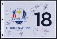"""2018 """"Ryder Cyp"""" Golf Pin Flag Signed by (9) With Phil Mickelson, Patrick Reed, Rickie Fowler, Webb Simpson (JSA ALOA)"""
