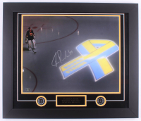 Tuukka Rask Signed Bruins 23x27 Custom Framed Photo Display (Rask Hologram)