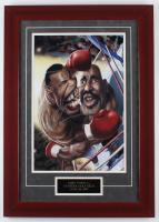 "Mike Tyson Signed ""Tyson vs. Holyfield"" 19x27 Custom Framed Caricature (JSA COA)"