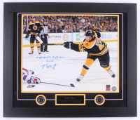 "Torey Krug Signed Bruins 23x27 Custom Framed Photo Display Inscribed ""1st NHL Goal / 1st Playoff Game"" & ""5-16-13"" (Krug Hologram)"