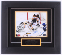 Zdeno Chara Signed Bruins 16.5x18.5 Custom Framed Photo Display (Chara Hologram)