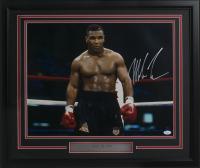 Mike Tyson Signed 22x27 Custom Framed Photo Display (JSA COA)