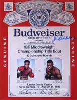 "Iran Barkley Signed ""Budweiser"" 11x14 Photo Inscribed ""Blade"" (JSA COA)"