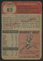 1953 Topps #82 Mickey Mantle at PristineAuction.com