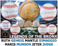 Mystery Ink Legends Of The Bronx Baseball Ruth/Gehrig Edition! 1 Yankees Signed Baseball In Every Box!
