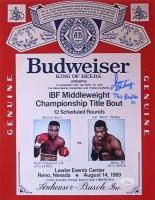 "Iran Barkley Signed ""Budweiser"" 11x14 Photo Inscribed ""This Bud For U"" (JSA COA)"