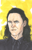 "Tom Hodges - Loki - Marvel Signed ORIGINAL 5.5"" x 8.5"" Color Drawing on Paper (1/1)"