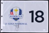 Jordan Spieth Signed 2018 Ryder Cup Pin Flag (JSA LOA)
