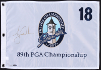 Tiger Woods Signed LE 89th PGA Championship Pin Flag (UDA COA)