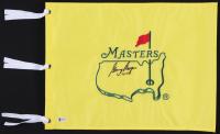 "Gary Player Signed Masters Pin Flag Inscribed ""61-74-78"" (Beckett COA)"
