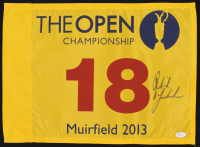 Phil Mickelson Signed Muirfield 2013 The Open Championship Pin Flag (JSA LOA)