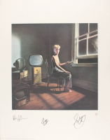 "Geddy Lee, Neil Peart & Alex Lifeson Signed Rush ""Power Windows"" 22x28 Limited Edition Lithograph (JSA LOA)"
