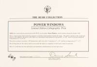 "Geddy Lee, Neil Peart & Alex Lifeson Signed Rush ""Power Windows"" 22x28 Limited Edition Lithograph (JSA LOA) at PristineAuction.com"