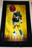"Brett Favre Signed Packers ""Breaking Through"" 27.5x43.5 Custom Framed Limited Edition Photo Display (UDA Hologram)"