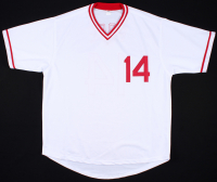 """Pete Rose Signed Reds Jersey Inscribed """"4256"""" (JSA COA) at PristineAuction.com"""