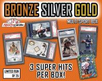 "Sportscards.com ""Bronze/Silver/Gold"" Sports Card Mystery Box – 3+ Super Hits Per Box!"