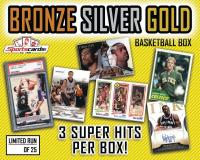 "Sportscards.com ""Bronze/Silver/Gold"" Basketball Card Mystery Box – 3+ Super Hits Per Box! at PristineAuction.com"